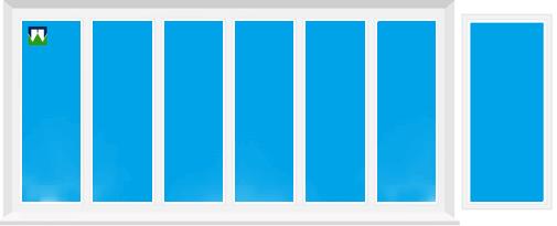 Plastikinių balkonų B61 kainos